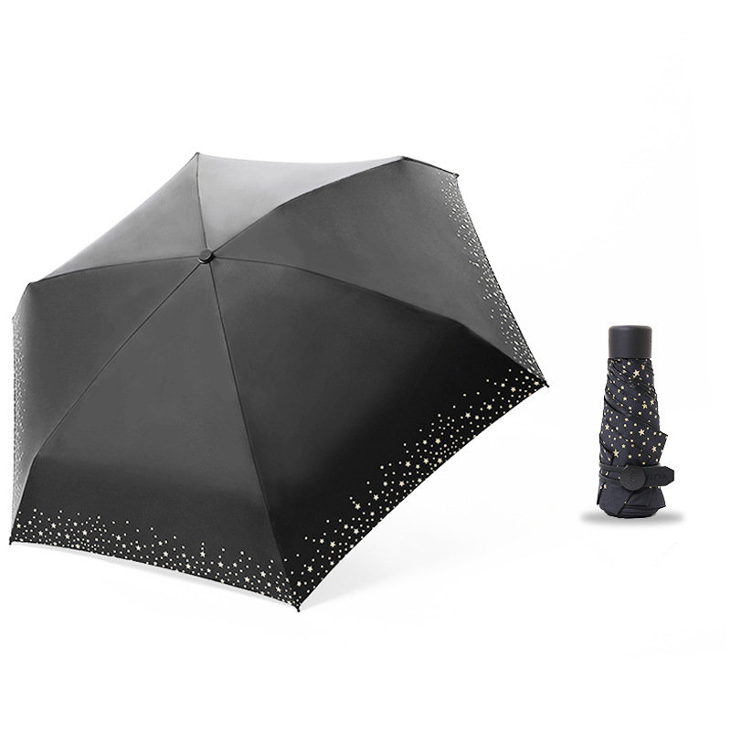 256g Small Fashion Folding Umbrella Rain Women Men Mini Pocket Sun Parasol Girls Anti-UV Waterproof Portable Travel Umbrellas