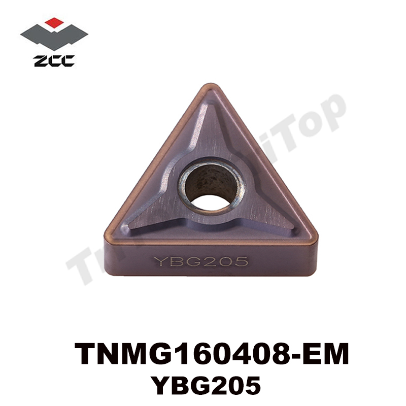 Free shipping 10Pcs lot TNMG160408 EM YBG205 ZCC CT CNC CUTTING TOOL For steel and stainless