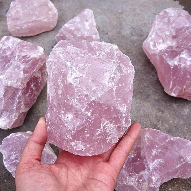 Г 1000 г натуральный розовый очень большой размеры кварцевый кристалл образец камня