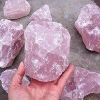 1000g NATURAL PINK ROSE Extra Large Size QUARTZ CRYSTAL Specimen stone