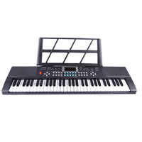 Surwish 61 Keys Children Electronic Organ Musical Instrument Toy for Early Education Black