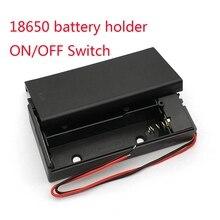 18650 Suporte Da Bateria de plástico Caso Caixa De Armazenamento De Baterias de 3.7 v Para 2×18650 DIY Caso Box Titular Container Com 2 Slots ON/OFF Switch