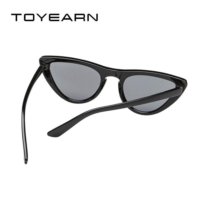 d00791292a0b4 TOYEARN Senhoras Da Moda Bonito Sexy Olho de Gato Óculos De Sol Das Mulheres  Designer de Marca Do Vintage Pequeno Vermelho Preto UV400 óculos de Sol  Óculos ...
