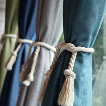 Однотонные занавески на заказ шторы из чистого хлопка и льна