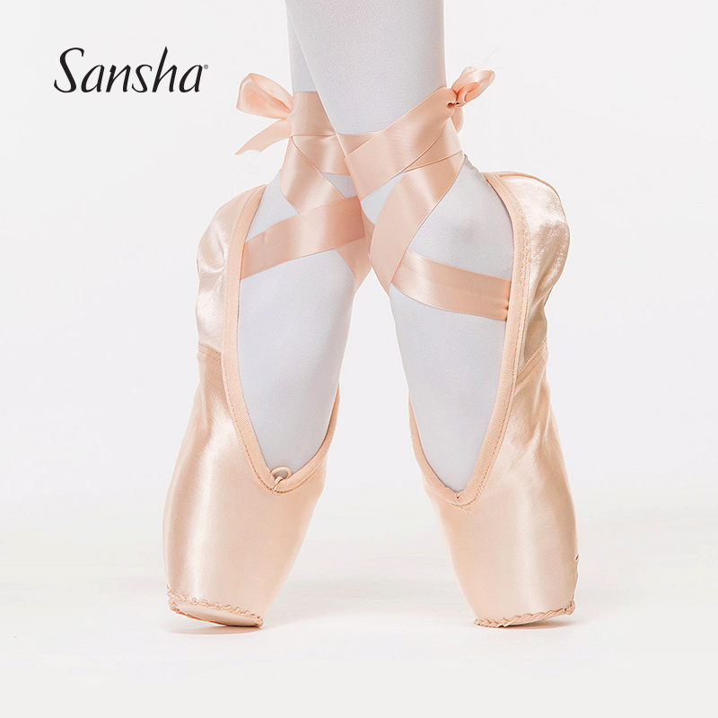Sansha Ballet Pointe Shoes La Pointe Series Articulated Leather Sole Strong 3 4 Shank Girls Women