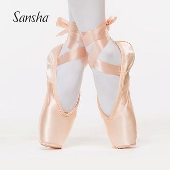Suela Serie Cuero Pointe Zapatos Sansha Ballet No1hsl De Mujer Rosa La Baile trhxQCsd