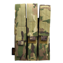 ROCOTACTICAL Tactical Triple Mag Pouch for KRISS/MP7 Magazine Military Molle Triple Magazine Pouch Black/Coyote Brown