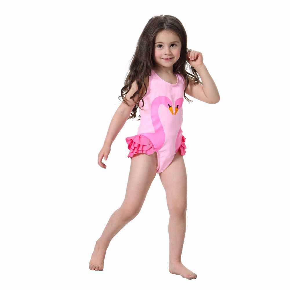 b52d578d0b Summer Children Kids Baby Girls Bikini One-piece Sleeveless Cute Print  Swimwear Infant Girls Beachwear