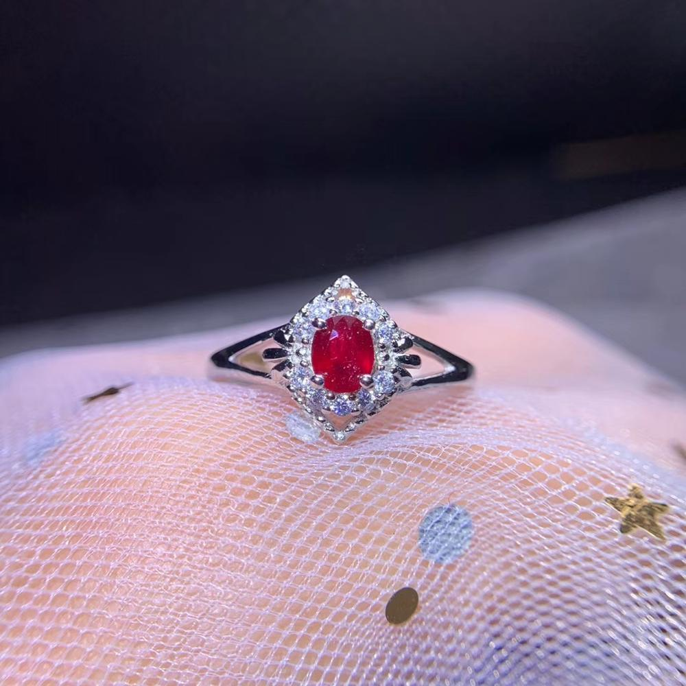 Classique rouge bleu vert couleur pierre gemme bague femmes argent bijoux fins certifié rubis naturel saphir émeraude date anniversaire cadeau