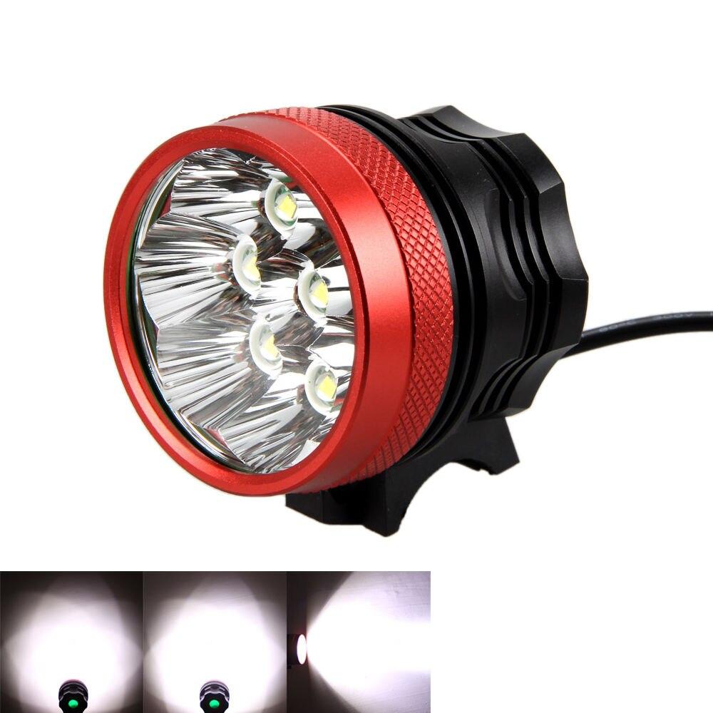 Aluminum Waterproof Strong 13000 Lm 8*XM-L T6 LED Head Front Bike Light 5 Modes Bike Lamp + 20000mAh Battery Pack+Charger