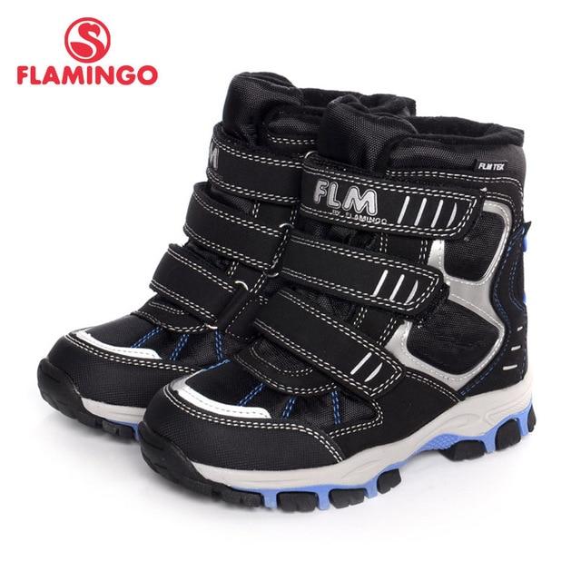 ФЛАМИНГО 2016 новая коллекция осень-зима модные дышащие детские сапоги внутри с шерстью высококачественная мембранная обувь со антискользящей подошвой для мальчика W6YC022M/021М