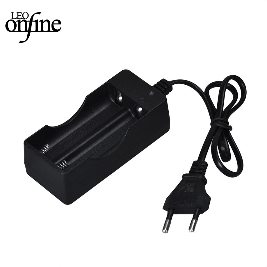 LANDFOX 18650 Battery Charger Black 2 Slots AC 110V 220V Dual For 18650 Charging 3.7V Rechargeable Li-Ion US EU Plug(China)