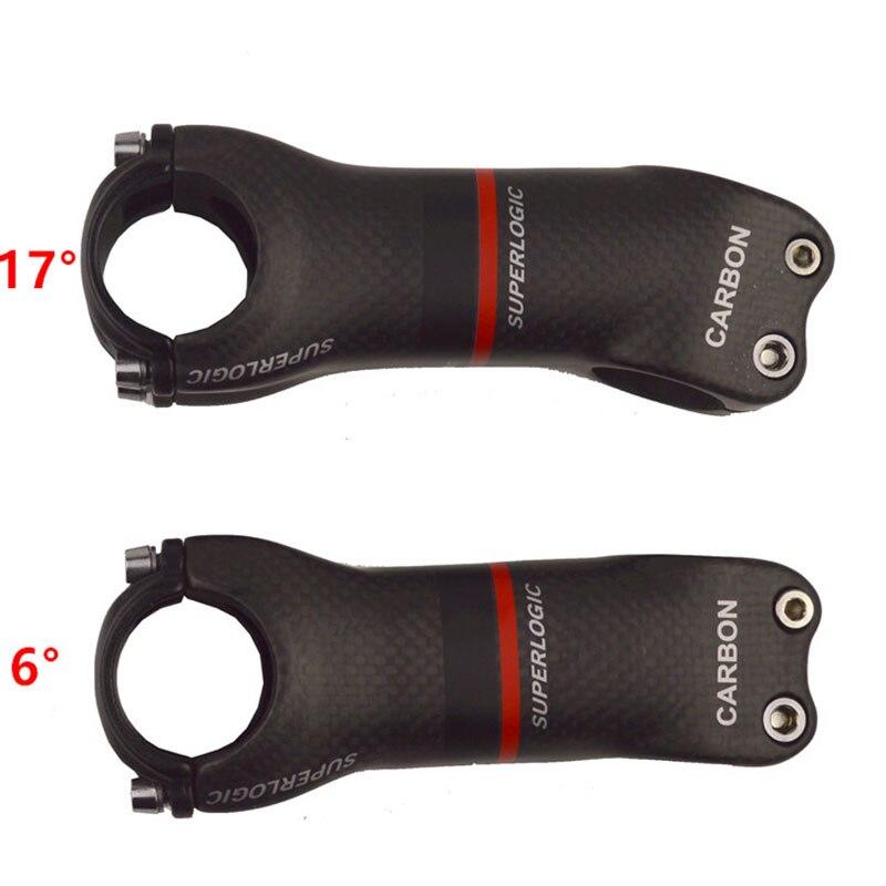 Superlogic 3k Matte Full Carbon Fiber Bicycle Stem Road/MTB Carbon Stem Bicycle Parts Angle 6/17 Degree Bike Parts Accessories