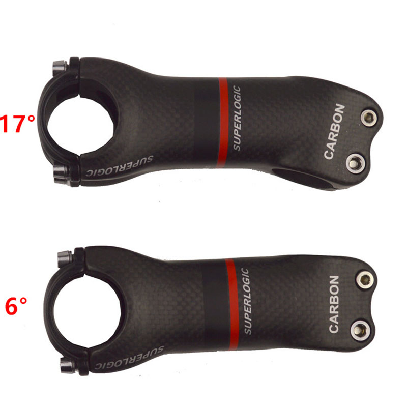 superlogic 3k matte Full Carbon Fiber Bicycle Stem Road/MTB Carbon Stem Bicycle Parts Angle 6/17 Degree bike parts Accessories