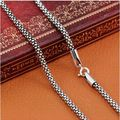New Fashion Necklace 100% real pure 925 sterling silver necklace Women Men jewelry classic silver 925 Corn Chain MLY001