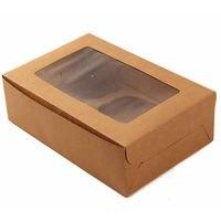 Packing Cake Box Cookie Cupcake Drawer Style Cupcake Kraft Paper