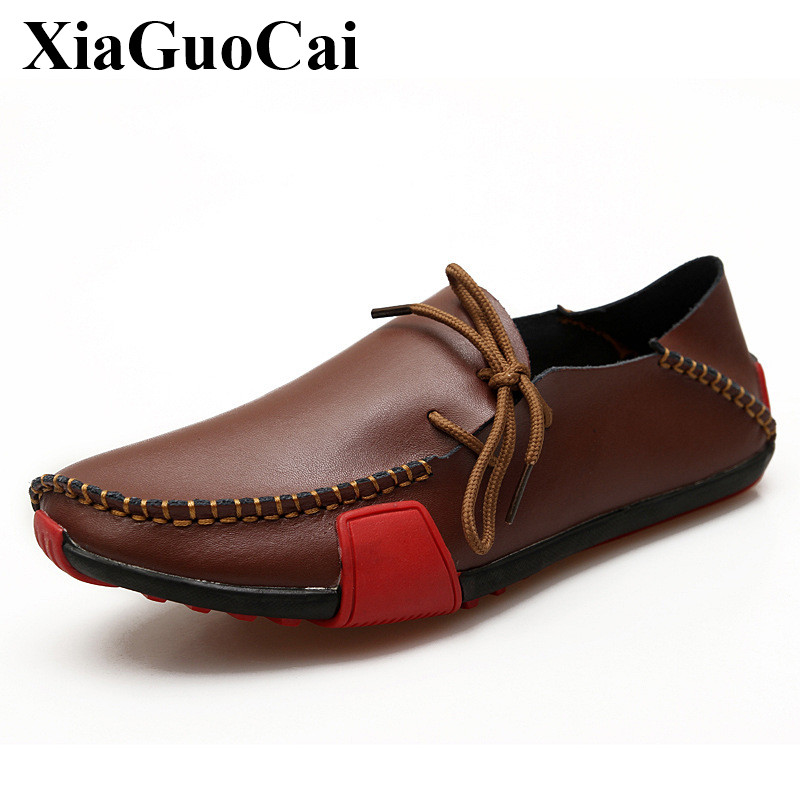 Plus Size Genuine Leather Shoes Men Loafers Moccasins Fashion Slip-on Soft Casual Shoes Breathable Gommino Driving Shoes H313 35 pl us size 38 47 handmade genuine leather mens shoes casual men loafers fashion breathable driving shoes slip on moccasins