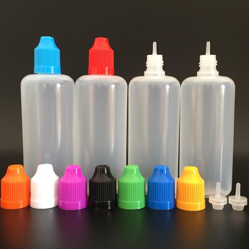 Flacons compte gouttes en plastique PE 100ml avec bouchons colorés à l'épreuve des enfants et embouts fins, flacons pour gouttes pour les yeux, 100 pcs/lot-in Trousses De Toilette from Beauté & Santé    3