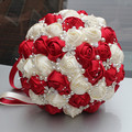 New Arrival Half Ball Handmade Satin Wedding Bouquet for Wedding European Wine Diamond Holding Flowers Custom Color Optioal