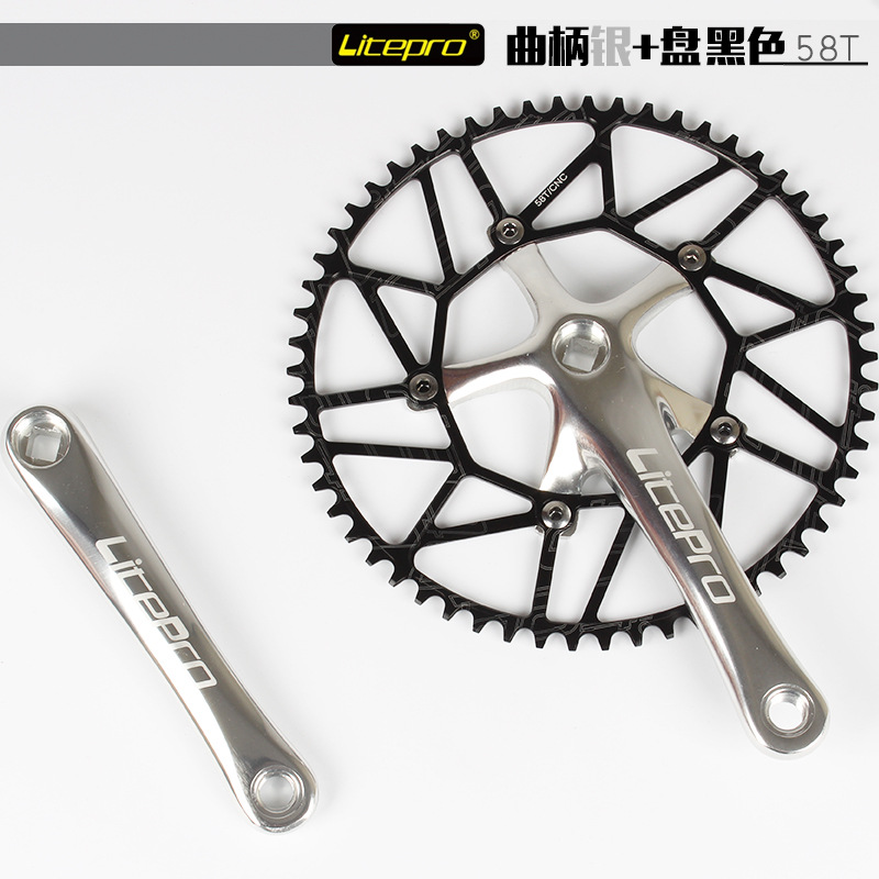 130BCD Litepro Folding Bike Narrow Wide Chainring 50//52//54//56//58T Fixed Gear