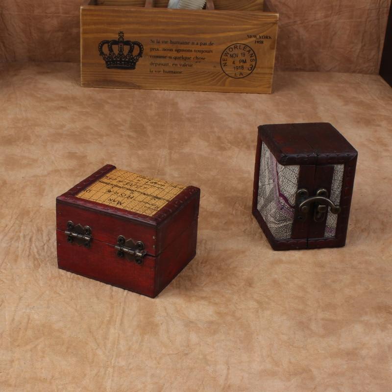 Vintage τετράγωνο ξύλινο κιβώτιο - Οργάνωση και αποθήκευση στο σπίτι
