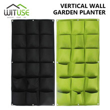 4/18/36 Pockets Hanging Garden Planting Bags Greening Wall Flower Seedling Wall Vertical Garden Seedling Plant Tool(China)