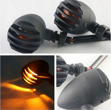 цена на 2x Metal Bullet Turn Signal Light Lamp For Yamaha Harley Honda Suzuki Kawasaki Buell Aprilia BMW Custom Chopper Cafe Cruiser