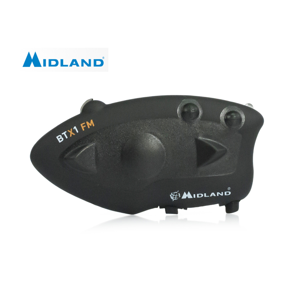 MIDLAND BTX1 Bluetooth Motorcycle Helmet Intercom Headset Water-Resistant Interphone 350 Hours Standby Talking Range 10 Meters t com 02 300 hours standby gps voice navigation bluetooth helmet headset without intercom function