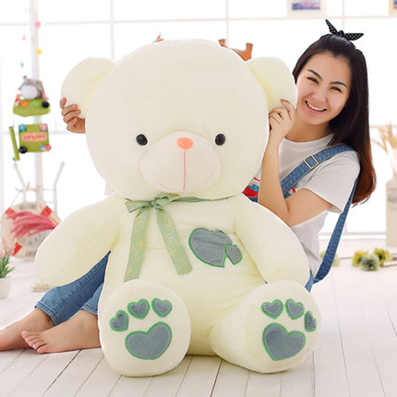 90cm Large Size Creative Birthday Gift Bear Lovely teddy bear Plush toy red Green Love Bear Valentine's Dday Gifts 70cm fluorescent bear wedding birthday gift wholesale creative new large plush bear toys to give their children christmas gifts