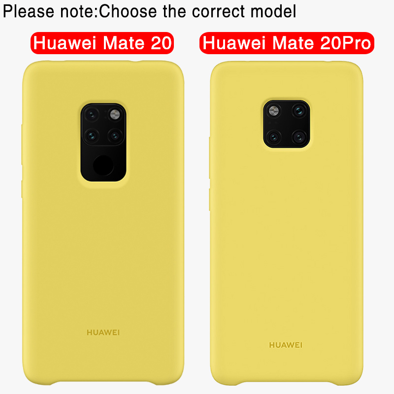 nuovo arrivo 7d3d2 b58ae Huawei Mate 20 Pro Original Case Offical liiquid Silicone Soft Protection  Back Cover Huawei Mate 20 Case Mate20 Silicone Cover