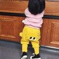 Lindos Ojos de Dibujos Animados Patrón de Bebé Muchachos Pantalones de Harén de Algodón búho Pantalones de Primavera y Verano Pantalones Largos Ropa de Niños Grandes PP