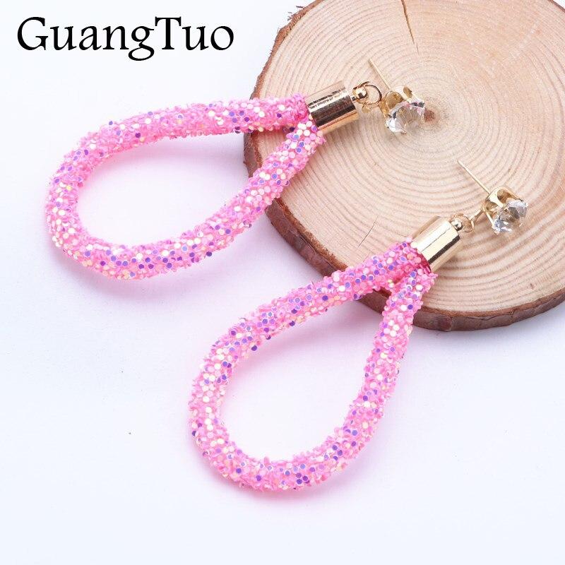 EK2187 European Fashion Zircon Crystal Water Drop Earrings for Women Jewelry Shinning Statement Oval Dangle Earring Brincos