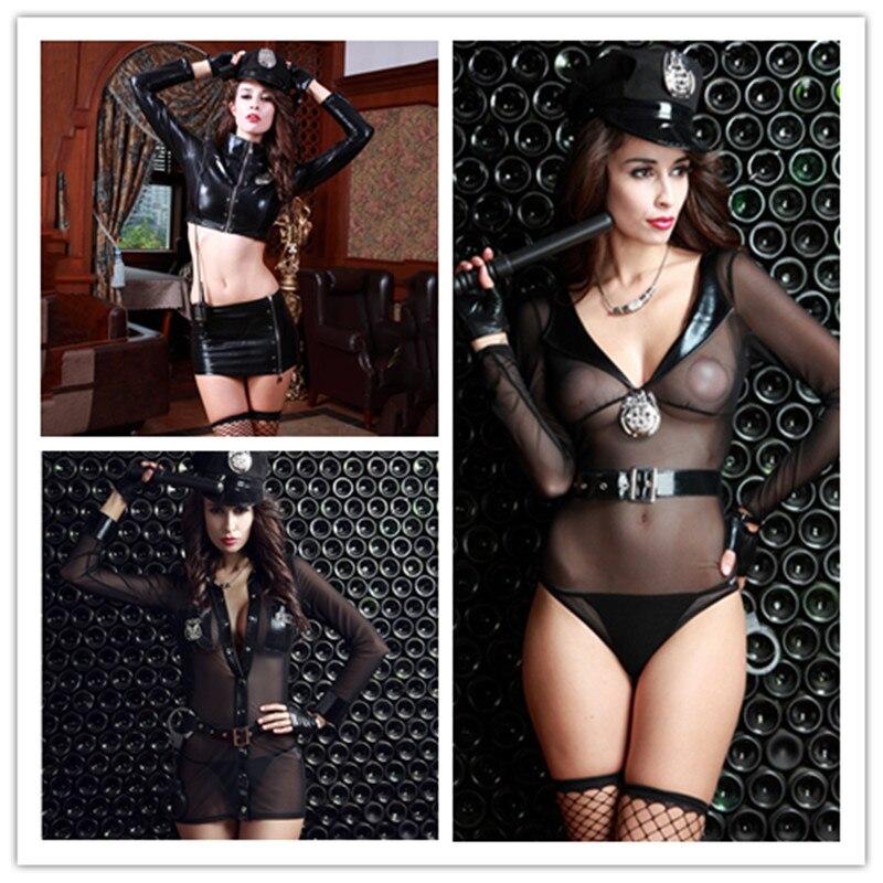 3 pcs/lot femme Police Costume Sexy policière uniforme Cosplay Sexy érotique Lingerie Police Costumes pour femmes Sexy sous-vêtements