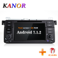KANOR 1024*600 Android 7.1 2din Car Radio For BMW E46 M3 Autoradio Multimedia Audio Stereo Support SWC WIFI Autradio Car PC