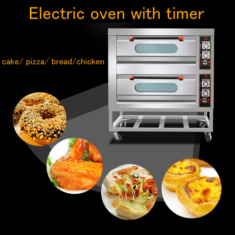 Multifunctional Electric Oven with Timer| Commercial Double Layers Oven for Bread | Pizza Baking Machine |High Temperature Baker pfml nb400 stainless steel high temperature deck baking pizza oven machine for pizza shop