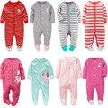 2017 ropa de bebé Recién Nacido trajes de pijamas de manga larga niños niños ropa de bebé mono de dibujos animados lindos bebes ropa del bebé del mameluco