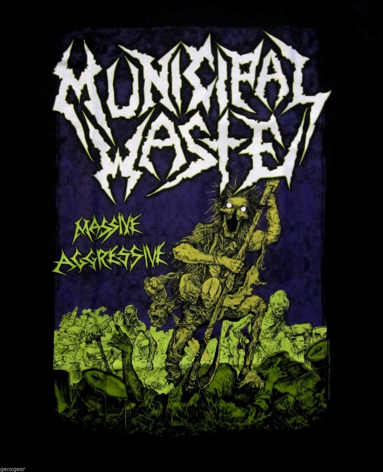 MUNICIPAL WASTE cd cvr MASSIVE AGGRESSIVE Official SHIRT XL new ...