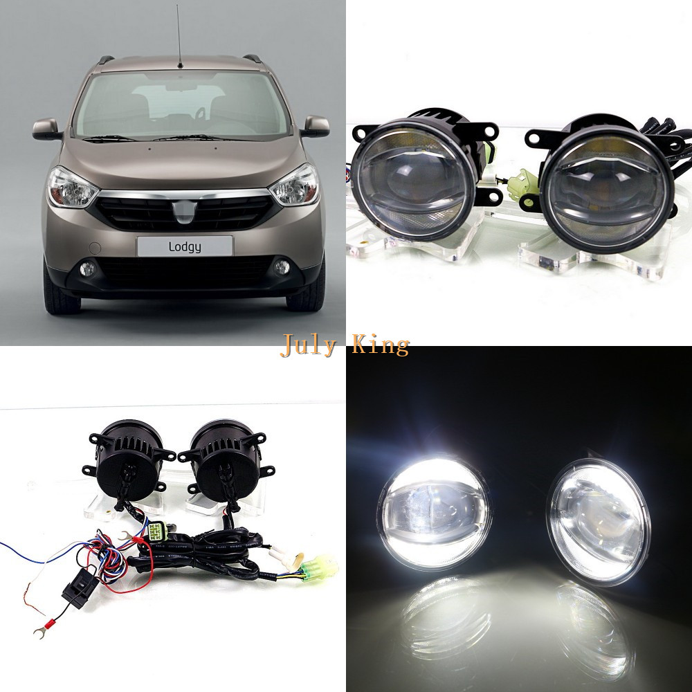 July King 1600LM 24W 6000K LED Light Guide Q5 Lens Fog Lamp +1000LM 14W Day Running Lights DRL Case for Dacia Lodgy 2012+ july king 1600lm 24w 6000k led light guide q5 lens fog lamp 1000lm 14w day running lights drl case for ford focus ii iii 06 14