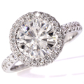 2.5 Carat GH Color Moissanite White Loose Stone Moissanite Ring Real Diamond Accents 14K white gold For Engagement Wedding