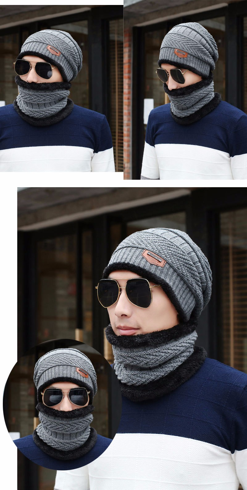 84822008f5b 2017 new Brand Beanies Knit Men  s Winter Hat Caps Skullies Bonnet Winter  Hats For Men Beanie Warm Baggy Knitted Hat and Scarf