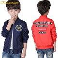 Pettern kindstraum nova tendência da moda crianças meninos jaqueta legal casaco menino da criança letra impressa zipper outwear roupas bombardeiro, MC369