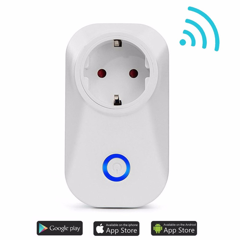 1Pc Smart Socket Wifi Wireless Remote Control Intelligent Timer Plug Via App Phone Home Power Remote Outlet US/UK Standard itead s20 wifi wireless smart socket 2g 3g 4g remote timer plug power switch smart home intelligent plug via smartphone
