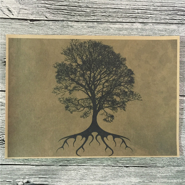 New Arrival Ls 038 Home Decor Kraft Paper Tree Of Life For Kichen