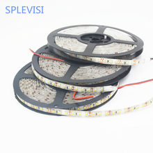 Splevisi Hot Sale 12 V 5 M 600 LED Flexible Strip Lampu SMD 3528 LED Tape Pita Keren Putih hangat Putih Biru Merah Hijau(China)