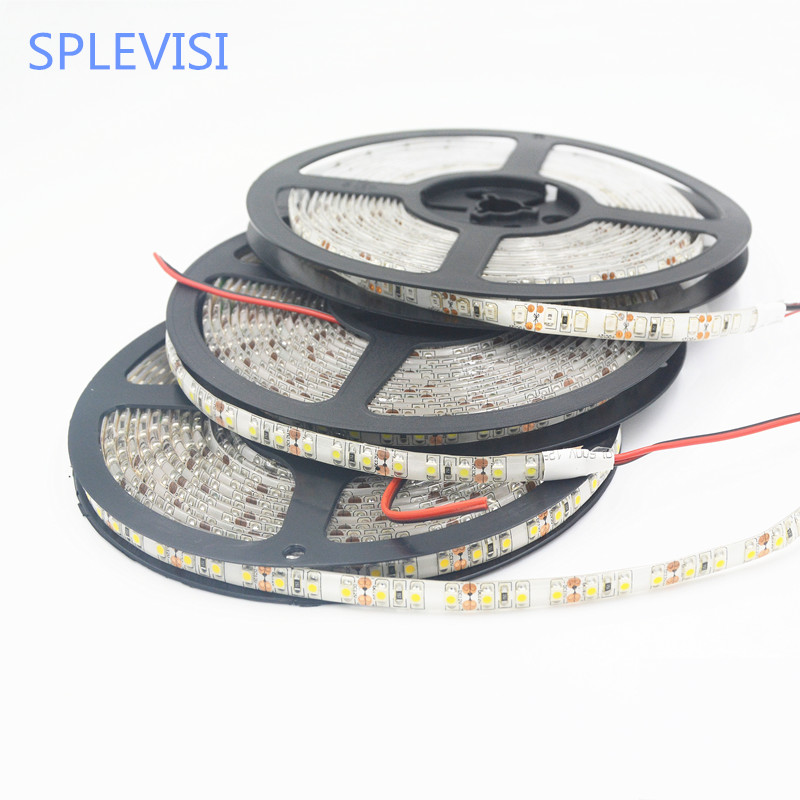 SPLEVISI Hot Sale 12V 5m 600 LED Flexibel Strip Light Vattentät SMD - LED-belysning