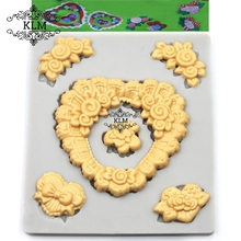 New love embossed cake border decoration accessories Chocolate fructose silicone mold DIY Sugarcraft