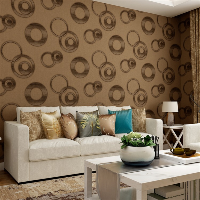 Vinyl Waterproof PVC Wallpapers Rolls 3D Circles Photo Wallpapers For Living Room Bedroom Walls Papers Home Decor Grey Covering цена