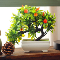 Hot Artificial Plants Bonsai For Home Decor Artificial Plastic Trees Artificial Flowers For Decoration Living Room