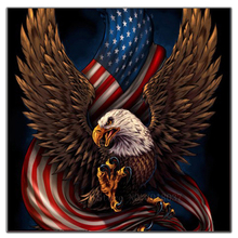 5D Diy Diamond Painting Cross Stitch American Flag & Eagle Needlework 3D Embroidery Full Square Mosaic Decoration Resin
