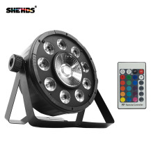 4 Pcs 9X10W+1X30W RGB COB 3IN1 Wireless Remote Control Led Flat Par Light 7 DMX LED Stage Powered